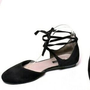 Paul Green Lydia Suede Flat Wrap Around Strap